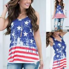 2016 Womens Summer Vest Top Sleeveless Blouse Casual Tank Tops Stars T-Shirt