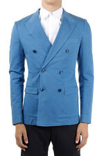 DOLCE & GABBANA Man double-brested unlined blue jacket made in italy