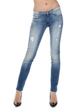 HUDSON Women Blue KRISTA Super Skinny Stretch Denim Jeans Made in USA New