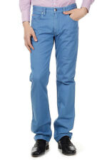 ARMANI COLLEZIONI Men New Blue Denim Stretch SLIM FIT Jeans Trousers Pants