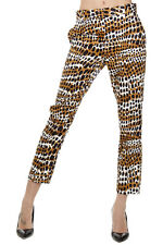 CELINE Women Multicolor Patterned Capri Cropped Trousers Pants Made in Italy