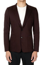 DOLCE & GABBANA Men Violet Stretch Virgin Wool Single Breasted Blazer Italy Made