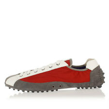 CAR SHOES New men sneaker shoes red Nylon + Suede Leather MADE IN ITALY