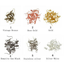 20pcs Brass French Ear wire Earring Bail Hook Pinch Jewelry Making Mixed Colors