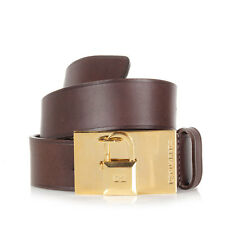 DSQUARED2 Dsquared² Woman Brown Leather Belt Padlock Detail Made in Italy
