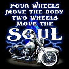 TWO WHEELS MOVE THE SOUL CREW NECK SWEATSHIRT BIKER & BABES MOTORCYCLE
