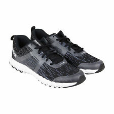 Reebok Twistform Force Mens Black Textile Athletic Lace Up Running Shoes