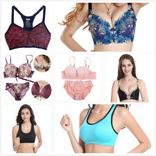 Sexy Women Ladies Lace Bra Set Push Up Bra Underwired Underwear Outfit Bra Suits