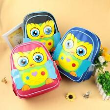 Kids Children Boy Girl Toddler Cartoon Outdoor Backpack Shoulder Schoolbag J5O3