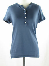 Blue Crew Neck Henley Top NWT XS American Living