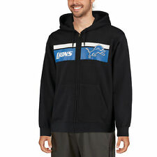 Majestic Detroit Lions Black Touchback Full-Zip Hoodie