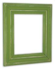 Wide Distressed Eden Green Picture Frame - Solid Wood