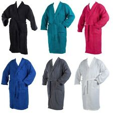 Soft Terry Towelling Bath Robe 100% Cotton Wrap Around Dressing Gown Extra Large
