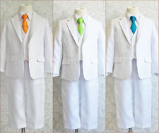 LTF BOY WHITE BLACK GOLD SILVER ORANGE GREEN LONG TIE WEDDING PARTY FORMAL SUIT