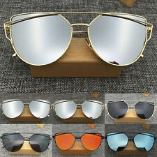 Outdoor Sunglasses Women's Metal Frame Mirrored Designer Glasses Eyewear CHI