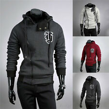 New Mens Fashion Slim Fit Zip Hooded Designed Jackets Coats Sexy Top Hoodies