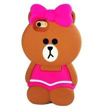 Bow Bowknot Skirt Bear Silicone Rubber Soft Case Cover for iPhone 5S 6 6S 6 Plus