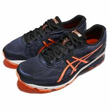 Asics GT-1000 5 2E Wide V Navy Orange Mens Running Shoes Sneakers T6A4N-4930