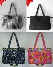 Large Purse Shopping Bag Daily Tote Snap Closure Quilted Cotton Free Shipping