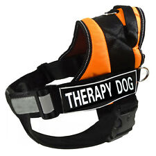 "Service Dog Vest Harness Removable Chest Plate & Velcro Patches ""THERAPY DOG"""