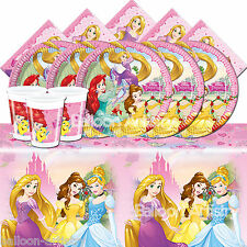 Disney Princess Children's Girls Complete Party Tableware Pack Kit For 16 Guests