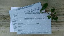 Simple winter snow fill in wedding invitations
