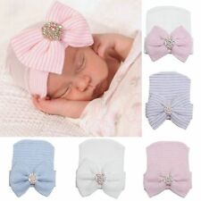 Baby Bowknot Comfy Newborn Infant Girl Toddler Diomand Cap Warm Beanie Hat CHI