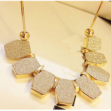 Ladies Charm Chain Pendant Crystal Choker Statement Bib Jewelry Necklace CHI