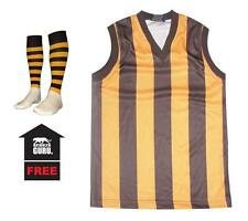 NEW Baby Kids Childrens Hawthorn Football Jumper Guernsey + FREE Footy Socks
