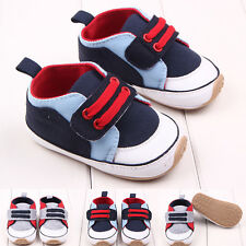 New Baby Boys Cotton Sneakers First Walking Crib Shoes Toddler Prewalker DB2195
