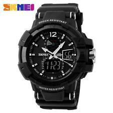 Fashion SKMEI LED Analog Digital Date Alarm Military Sport Mens Wrist Watch W3X0