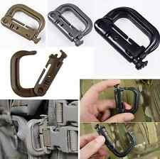 1pcs Tactical Grimloc Safe Buckle MOLLE Locking D-ring Carabiner EDC Webbing New