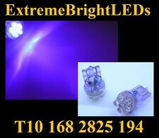 TWO UV Purple Ultra Violet 6-LED Map Dome Lights 2825 T10 168 194 2821