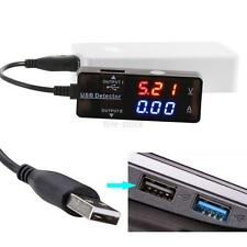 USB Power Charger LCD Current Voltage Detector Tester Monitor Meter For PC