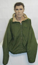 OLIVE GREEN THERMAL REVERSIBLE SOFTIE JACKET - Size: LARGE,  British Army NEW