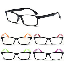 Hot 6 Colors Fashion Plain Mirror Glasses Women's Men Clear Lens Black Frame