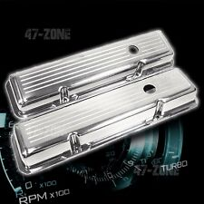 ALUMINUM CHEVY SB 283-350 SHORT VALVE COVERS BALL MILLED - POLISHED