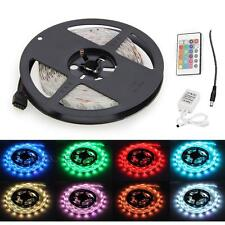 2-5M RGB 5050 SMD LED Light Flexible Strip + 24/44key IR Remote 12V Home Décor