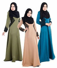 Maxi Long Chiffon Dress Kaftan Jilbab Islamic Muslim Abaya Women Cocktail