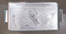 1962 1963 DOMINION TORONTO MAPLE LEAFS STANLEY CUP CHAMPIONS SERVING TRAY HTF