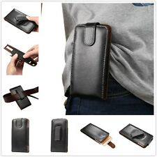 1X Vintage Mens Pouch Belt Leather Phone Holster Case Bag 360 Roating Clip Cover