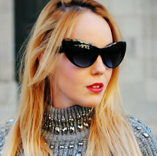 Vintage Women Sunglasses Cat Eye Oversized Retro Designer Fashion