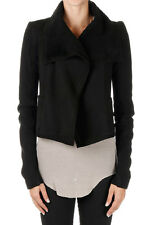 RICK OWENS Woman Shearling Biker Jacket New with Tags and Original