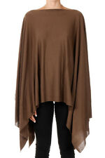 RICK OWENS New Woman Brown Faun Poncho Virgin Wool Made in Italy NWT