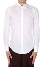 VIVIENNE WESTWOOD Men New Cotton Stretch Shirt White Original Italy Made