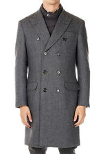 BRUNELLO CUCINELLI New Men Grey Wool Down Padded Jacket Coat Made in Italy NWT