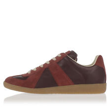 MARTIN MARGIELA MM22 New men Dark Red Leather suede Sneakers Shoes Made Italy