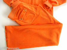 Juicy Couture Track Orange Fire Opal Tracksuit Pocket Pants Small S