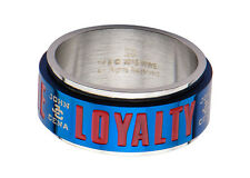 WWE John Cena Hustle, Loyalty and Respect Men's Stainless Steel Spinner Ring