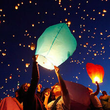 Sky Flying Paper Wishing Lanterns Lucky Light Wedding Party Assorted Muilt Color